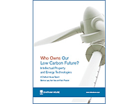 September 11th, 2009: CambridgeIP and Chatham House launch report 'Who Owns Our Low-Carbon Future: Intellectual Property and Energy Technologies?'