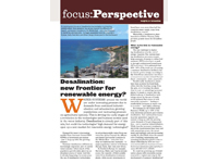 March/April 2012: Desalination- new frontier for renewable energy?